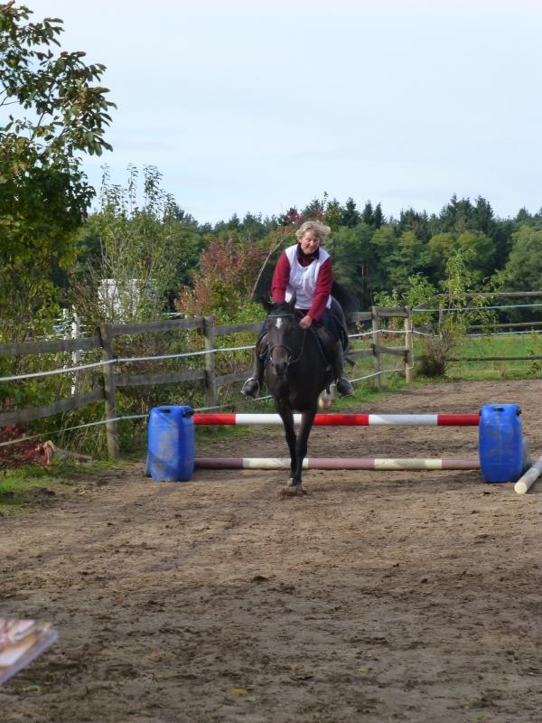 Jumping: Sabine and Galina